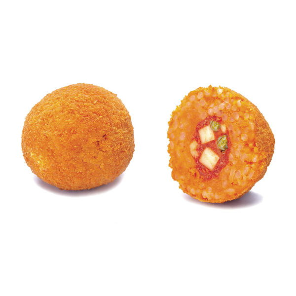 Mini rice arancino with tomato