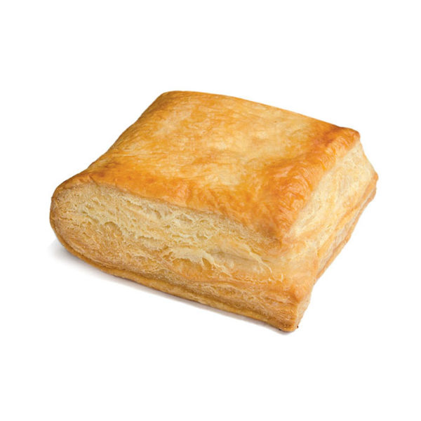 Puff pastry snack with ham