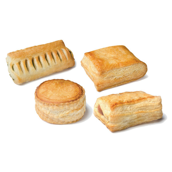 Four tastes puff pastry snacks