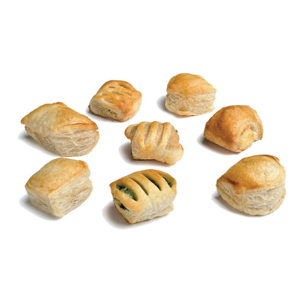 A selection of micro puff pastry appetisers