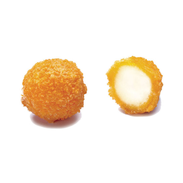 Breaded small mozzarella cheese